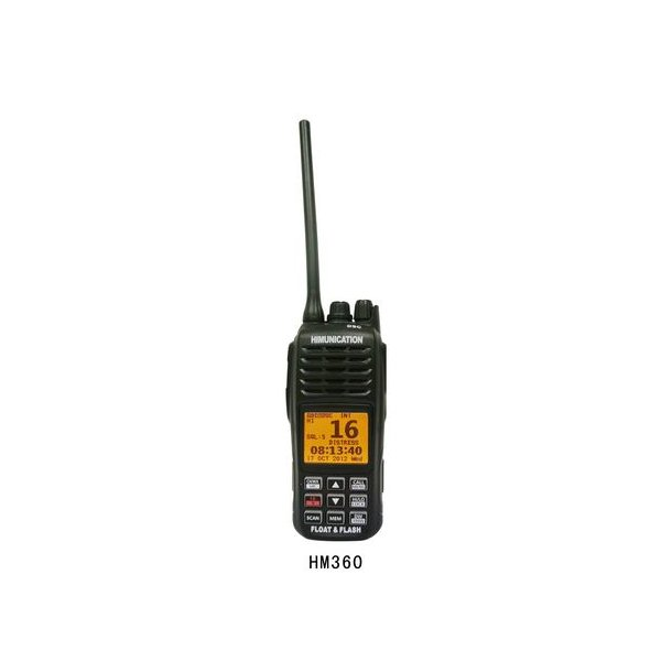 Himunikation VHF/DSC radio med DSC og GPS.